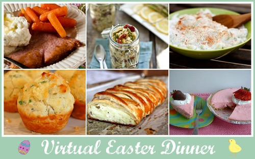 Menu For Easter Dinner  Easter Round up Dinner Dessert Decorations and more
