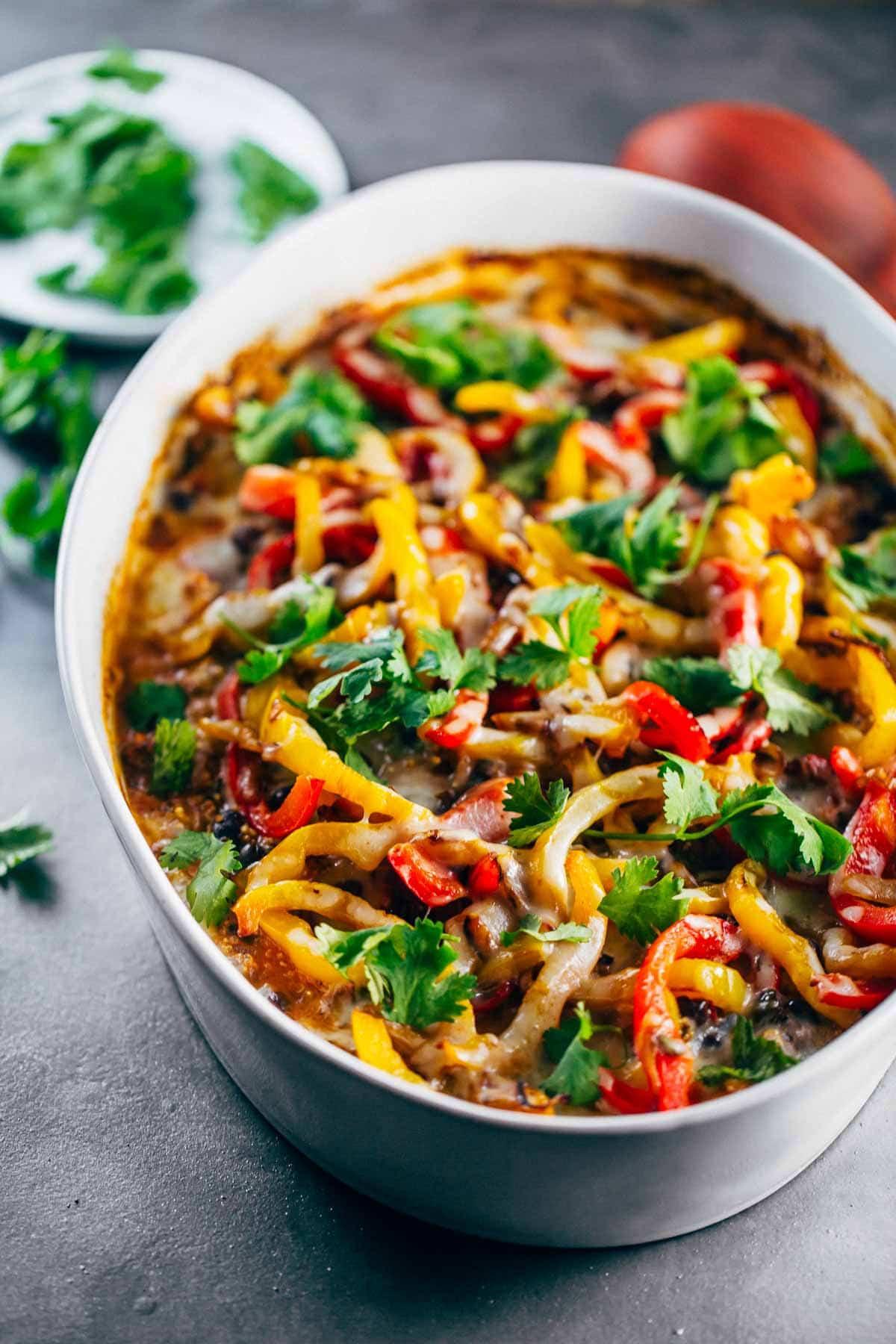 Mexican Healthy Recipes  Easy Mexican Chicken Quinoa Casserole Recipe Pinch of Yum