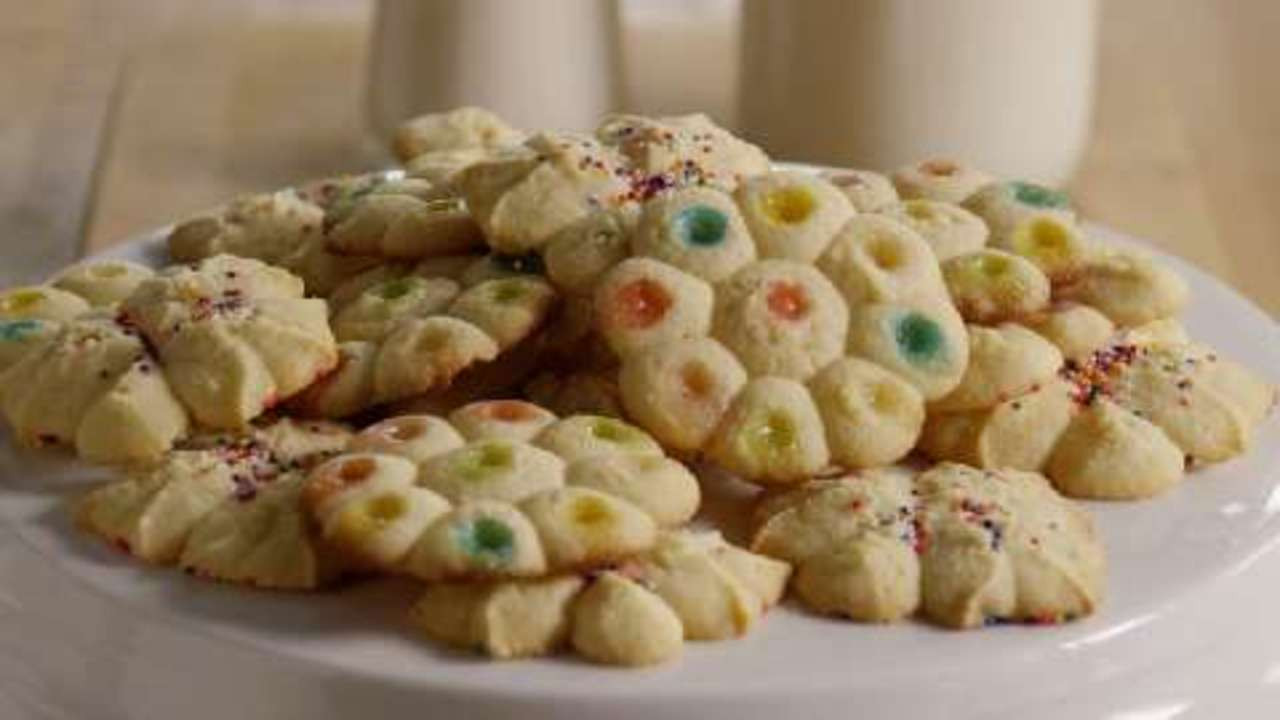 Mexican Wedding Cakes Allrecipes  Butter Rich Spritz Butter Cookies Video Allrecipes