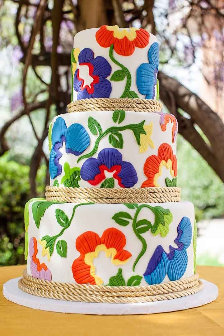 Mexican Wedding Cakes  27 Exciting & Colourful Mexican Wedding Cake Ideas