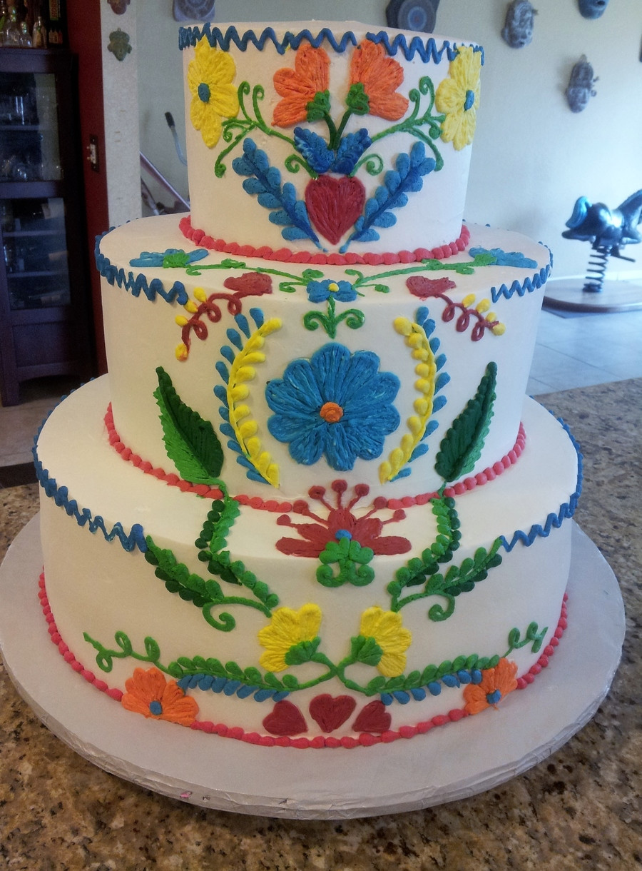 Mexican Wedding Cakes  Vintage Embroidered Mexican Wedding Cake CakeCentral