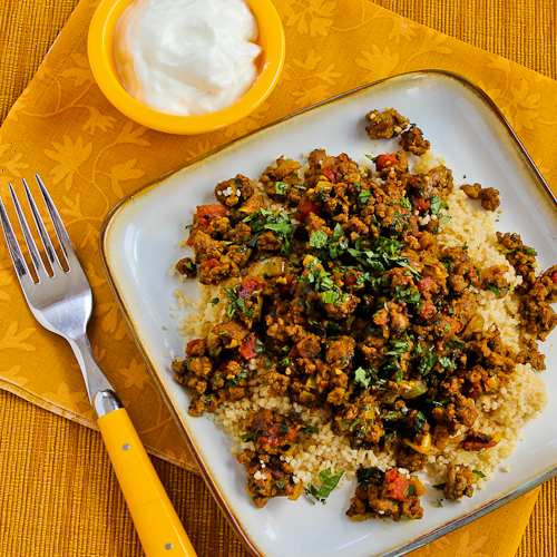 Middle Eastern Beef Recipes  Kalyn s Kitchen Recipe for Middle Eastern Spicy Ground