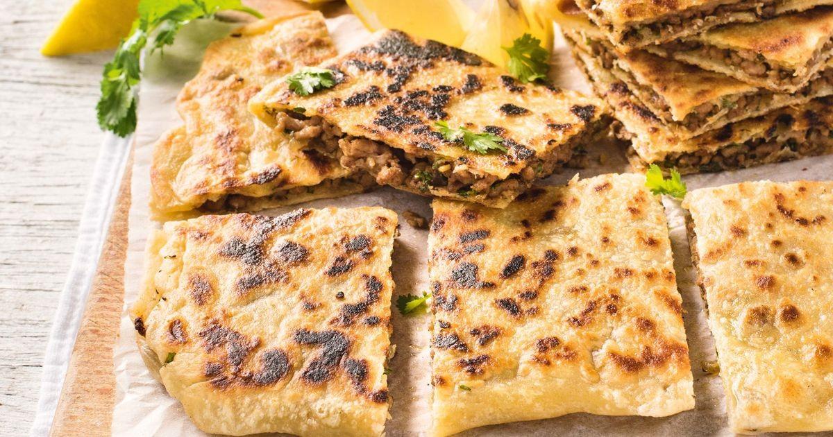 Middle Eastern Bread Recipe  Middle Eastern stuffed flatbreads