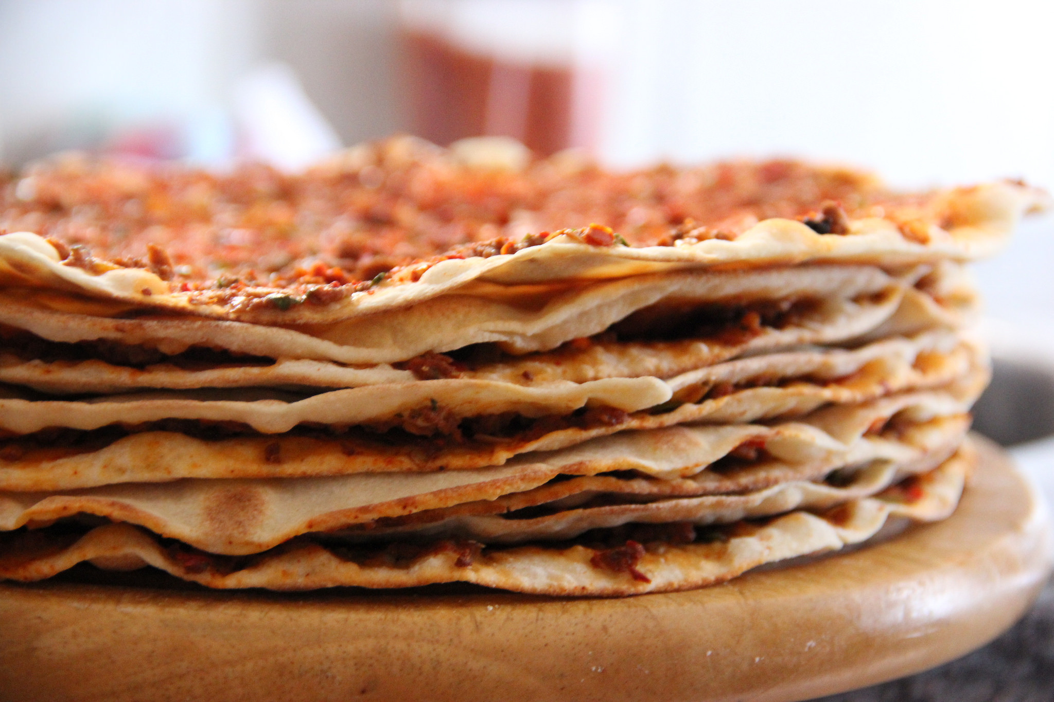 Middle Eastern Bread Recipe  Turkish Food & Recipes Lahmacun