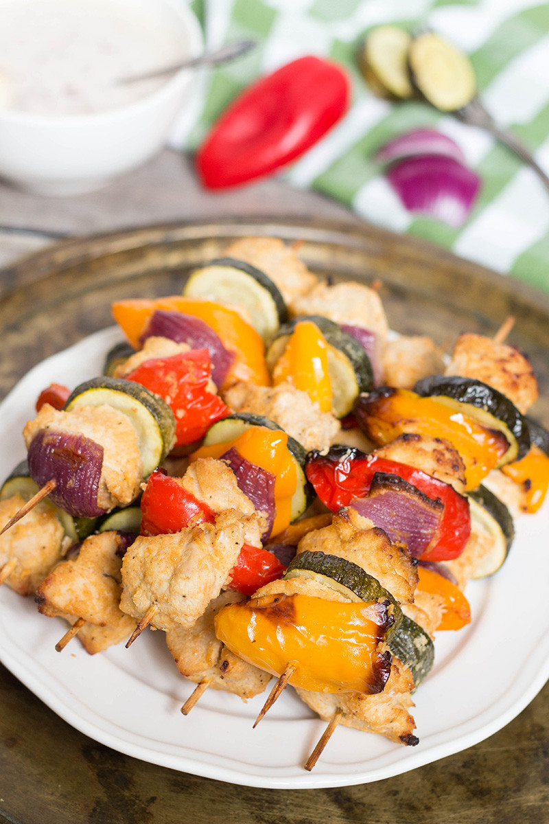 Middle Eastern Chicken Kabob Recipes  Chicken Shish Kabobs Recipe w Yogurt and Red ion Dip