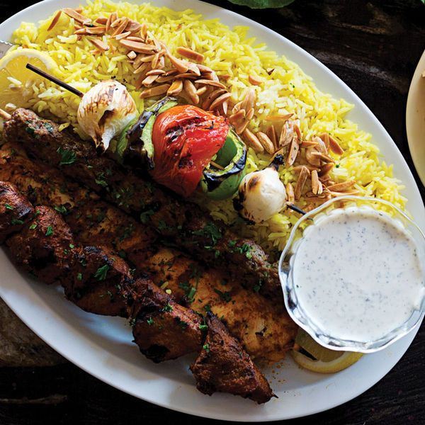 Middle Eastern Chicken Kabob Recipes  Shish Taouk Spiced Chicken Kebabs with Garlic Yogurt