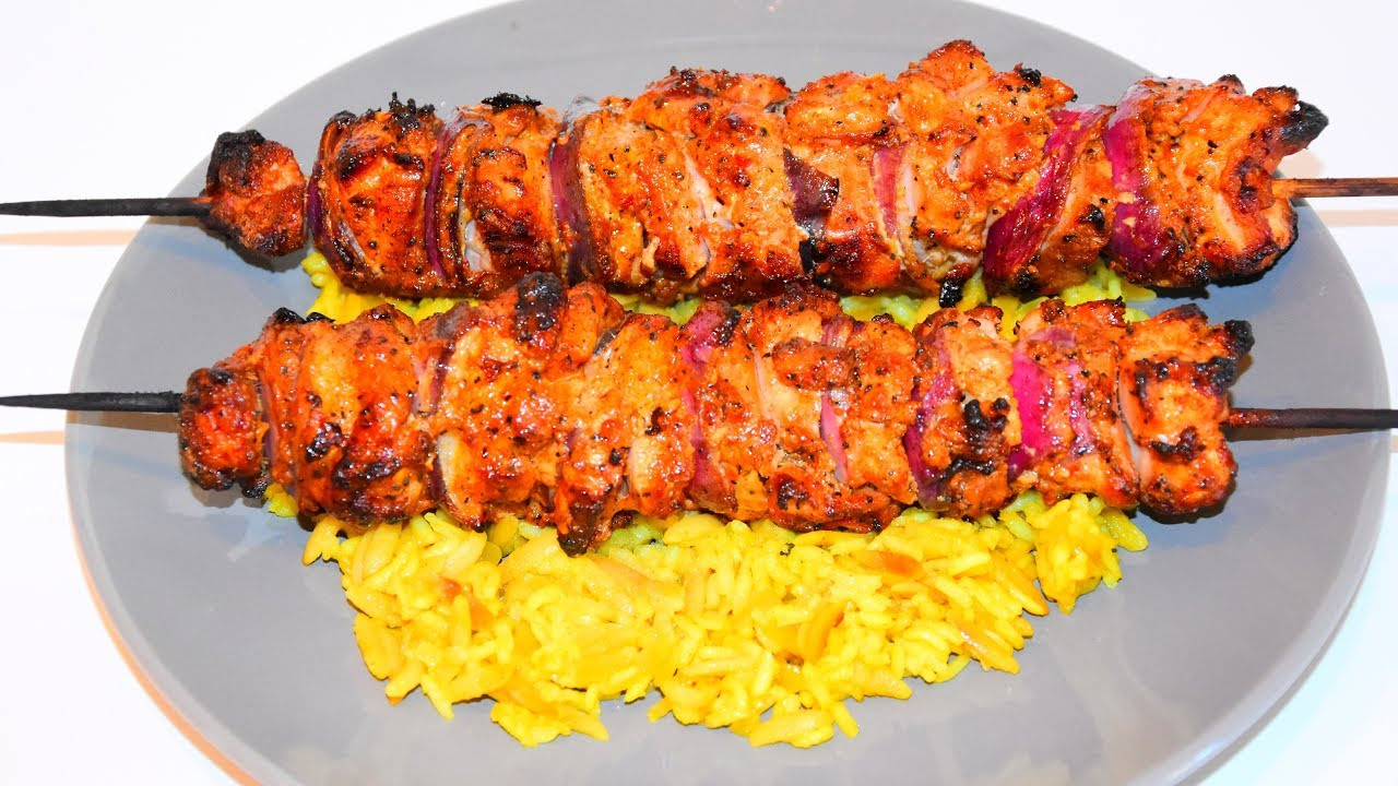 Middle Eastern Chicken Kabob Recipes  middle eastern grilled chicken