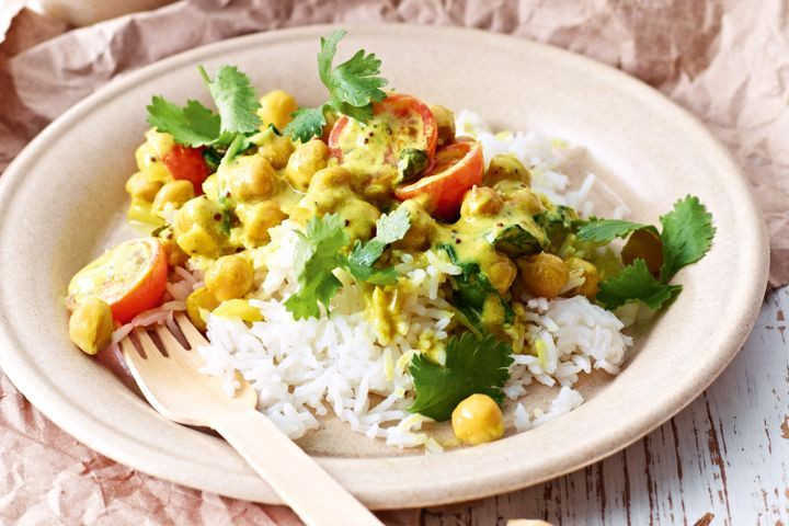 Middle Eastern Chickpea Recipes  Middle East Chickpea & spinach curry Genesis Kitchen