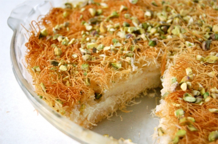 Middle Eastern Dessert Recipes  Easy kunafa Egyptian Pinterest