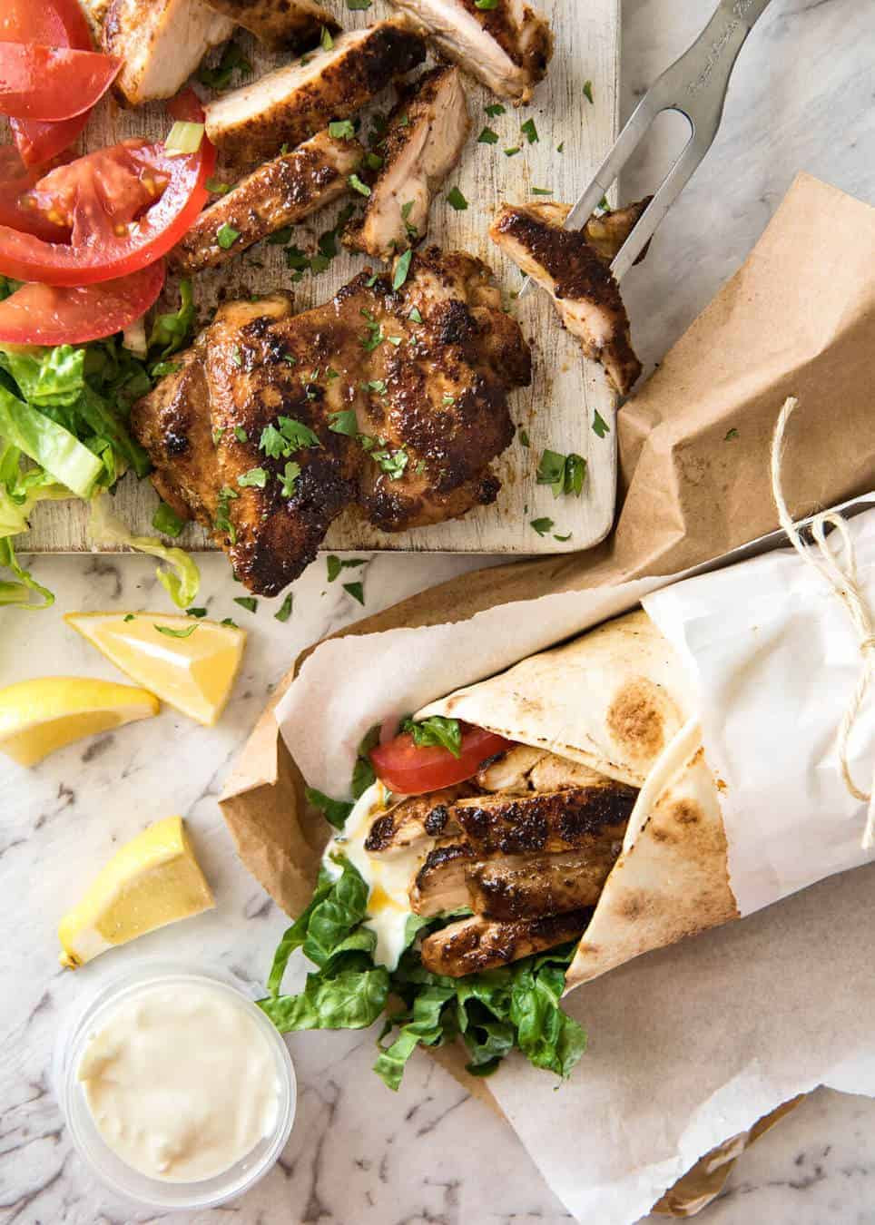 Middle Eastern Food Recipes  Chicken Shawarma Middle Eastern