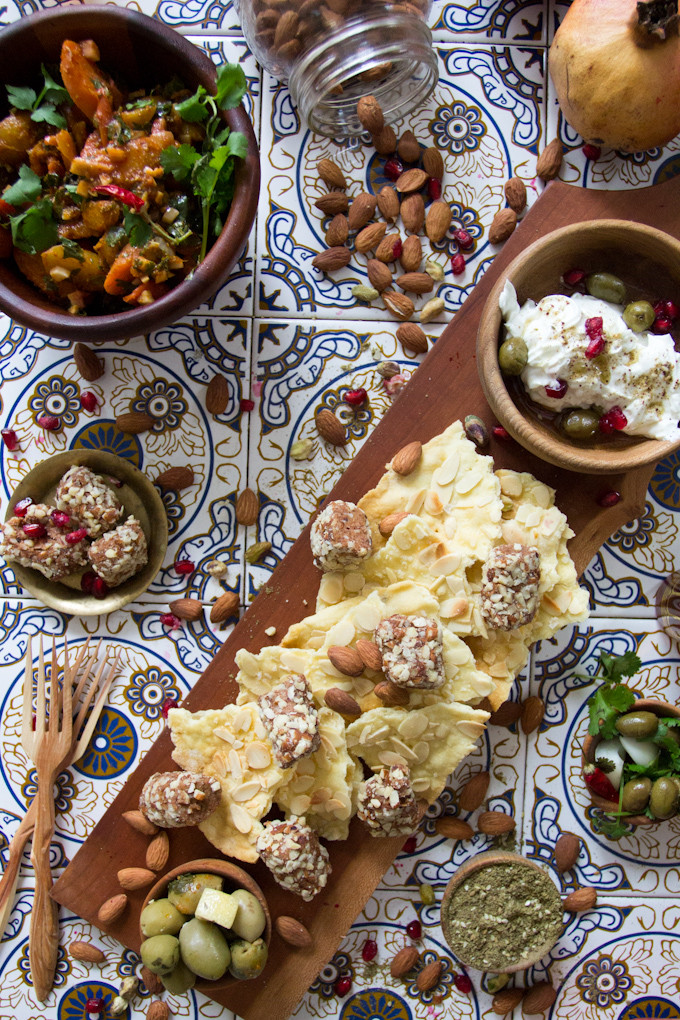 Middle Eastern Food Recipes Appetizers  At the Immigrant s Table Middle Eastern appetizer platter