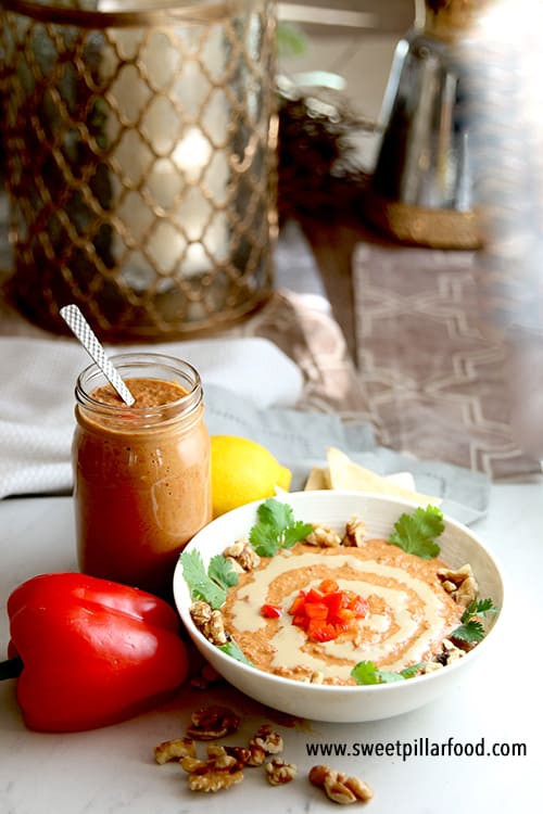 Middle Eastern Food Recipes Appetizers  Muhammara Middle Eastern Red Pepper Dip