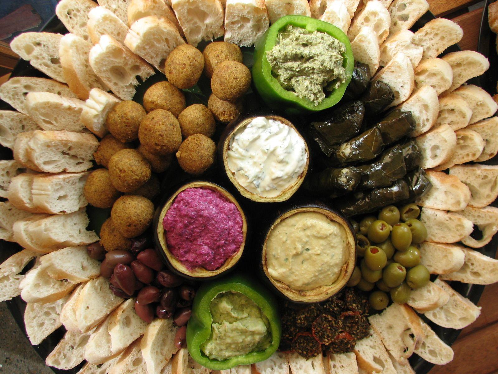 Middle Eastern Food Recipes Appetizers  Mezze platter Appetizers Pinterest