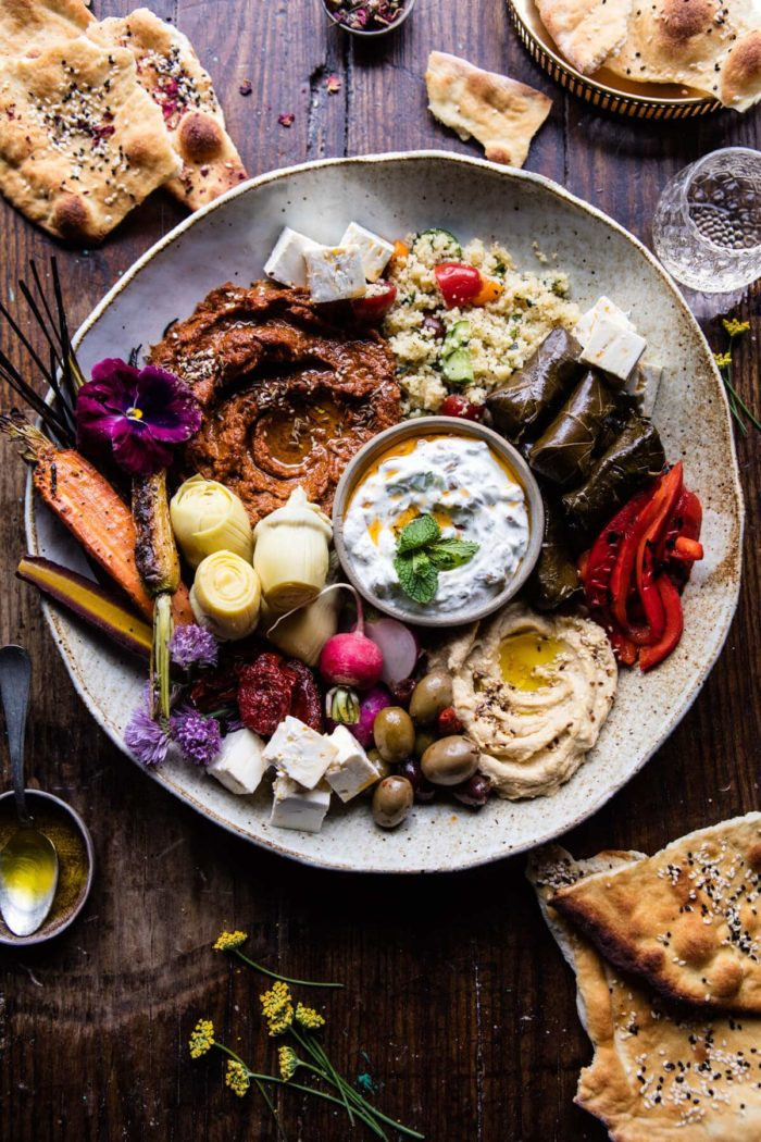 Middle Eastern Food Recipes Appetizers  Roasted Red Pepper Meze Platter Half Baked Harvest