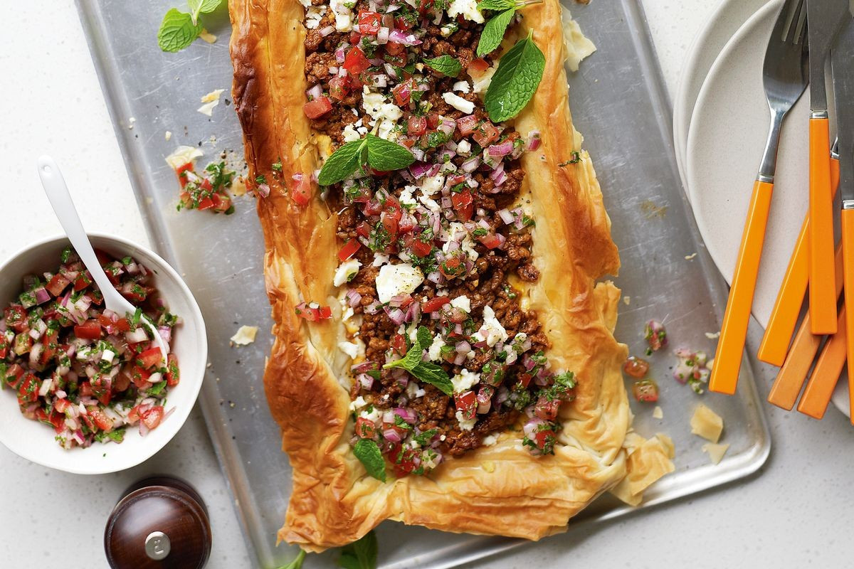 Middle Eastern Food Recipes  Middle Eastern lamb tart Recipes delicious