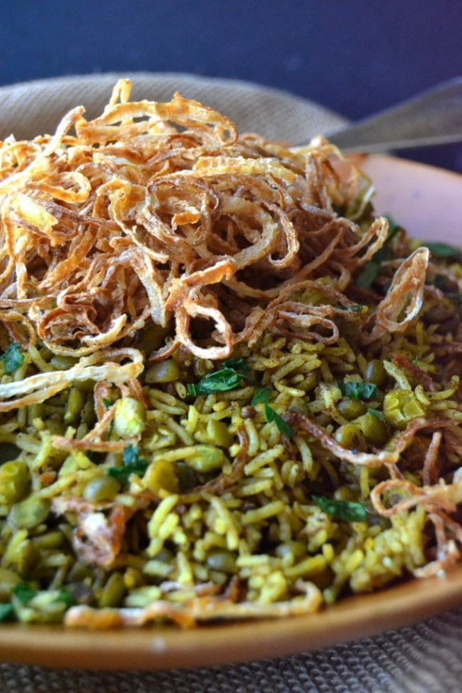 Middle Eastern Food Recipes  A Middle Eastern fort dish of Basmati rice and lentils