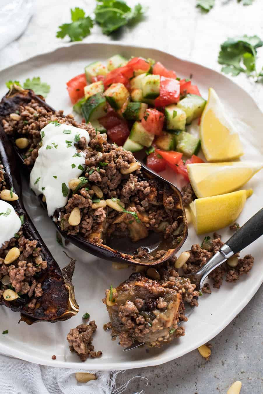 Middle Eastern Ground Beef Recipe  Moroccan Baked Eggplant with Beef