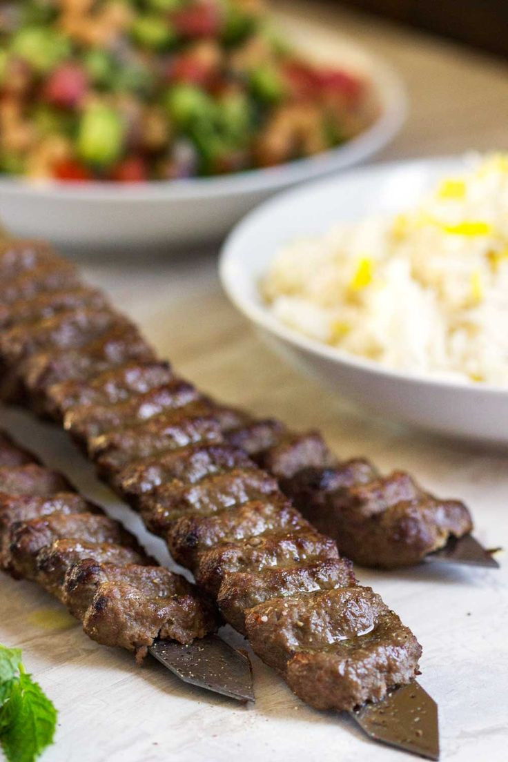 Middle Eastern Ground Beef Recipe  Beef and Lamb Kabobs Recipe