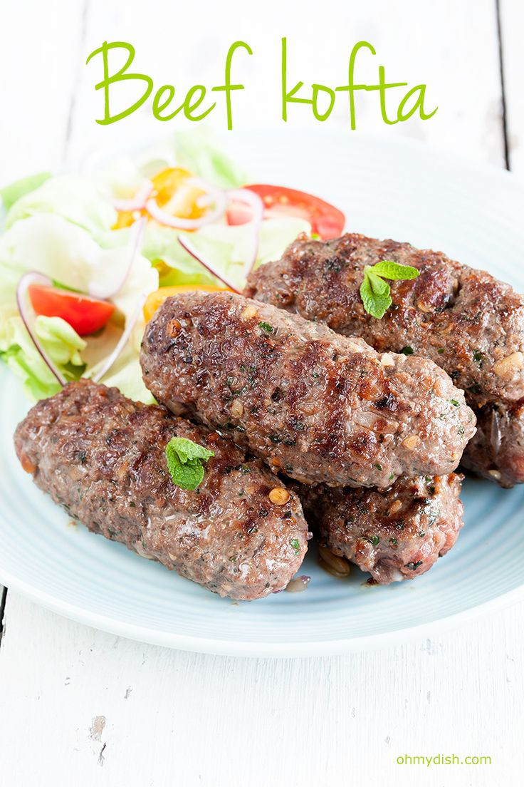 Middle Eastern Ground Beef Recipes  Spicy garlic flavors from this middle eastern beef kofta