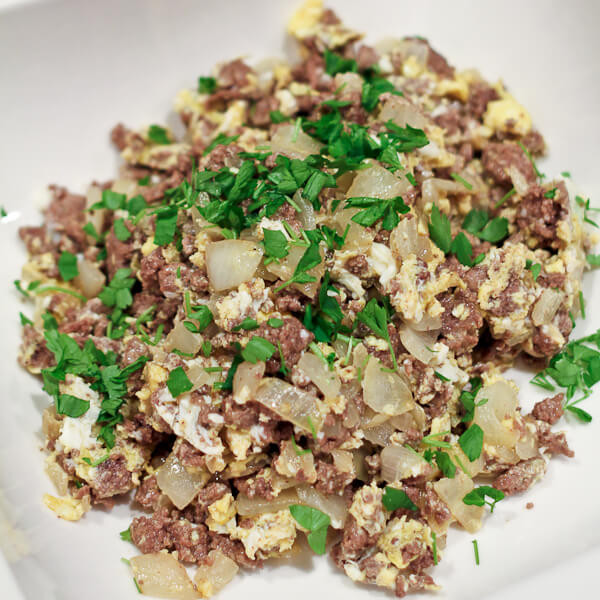 Middle Eastern Ground Lamb Recipes  Middle Eastern Scrambled Eggs with Meat and ion Review