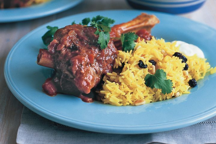 Middle Eastern Ground Lamb Recipes  Middle Eastern style lamb shanks with saffron rice