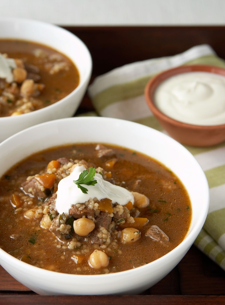 Middle Eastern Lamb Recipes  Middle Eastern Lamb and Chickpea Soup Dish