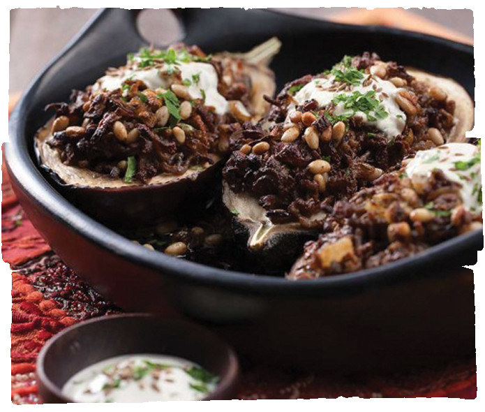 Middle Eastern Lamb Recipes  Middle Eastern Lamb and Yoghurt Stuffed Eggplant five am