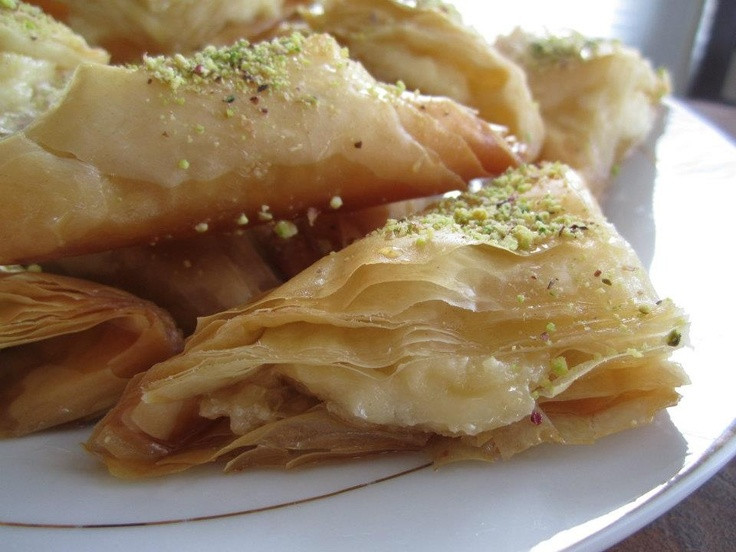 """Middle Eastern Pastries  Middle Eastern cream filled pastries """"Warbat bil ishta"""