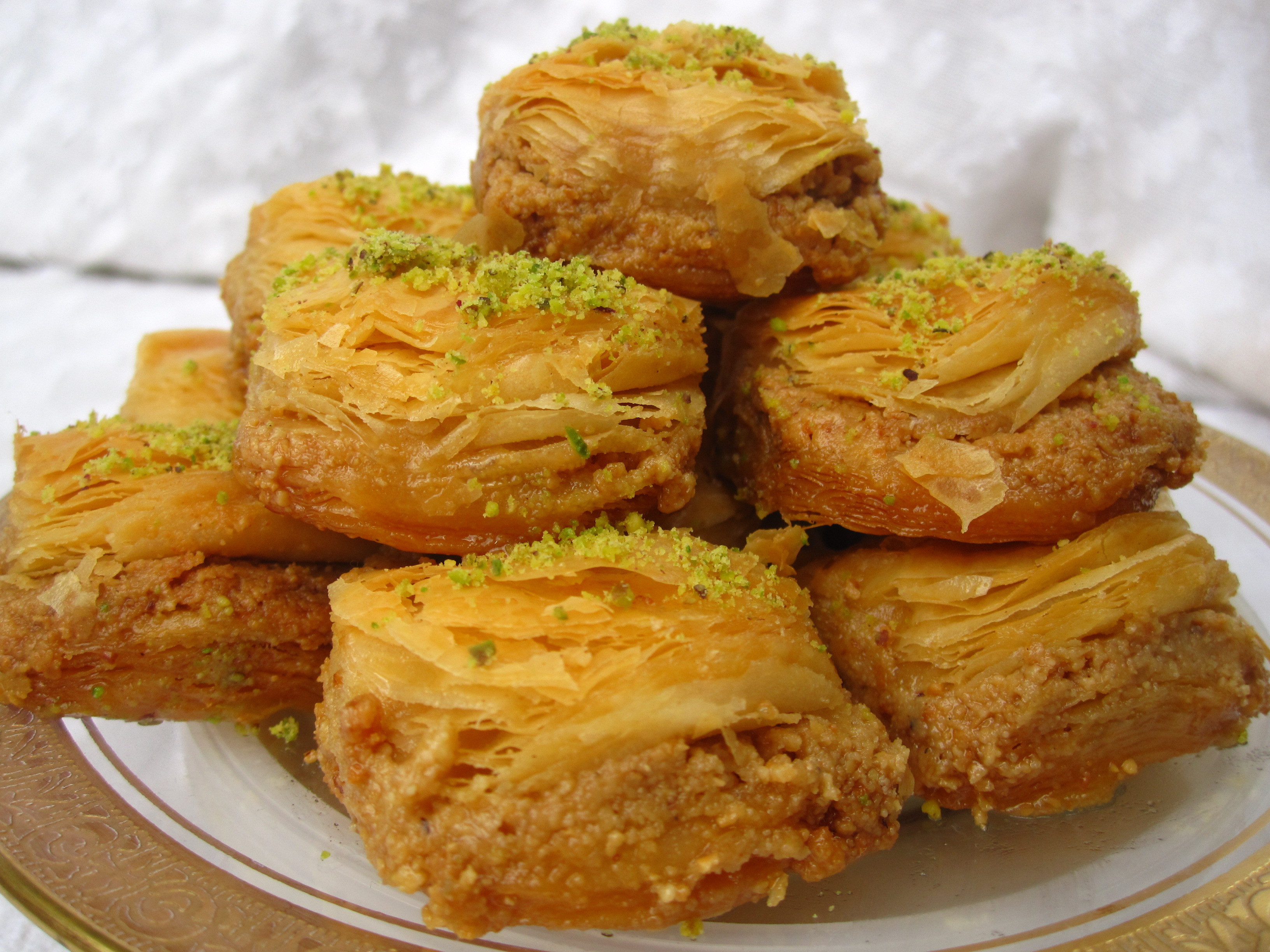 Middle Eastern Pastries  Baklava by the bushel is a Christmas treat American Food