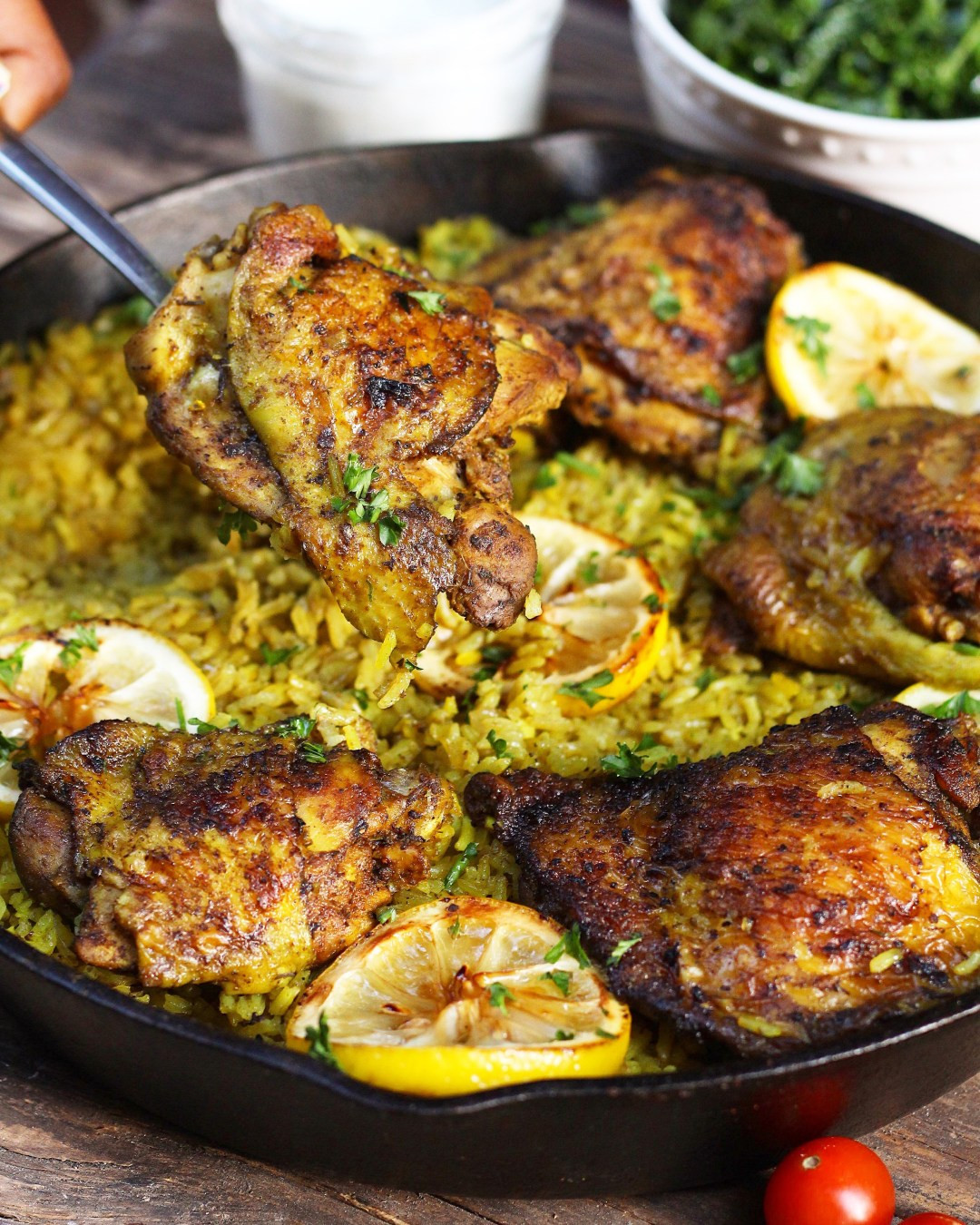 Middle Eastern Recipes Easy  e Pot Middle Eastern Chicken and Rice Ev s Eats