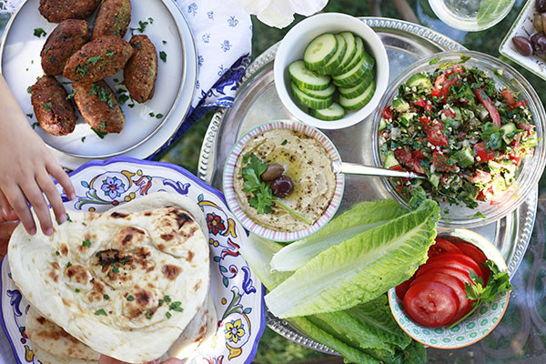 Middle Eastern Recipes Vegetarian  A Simple Middle Eastern Dinner with An Edible Mosaic