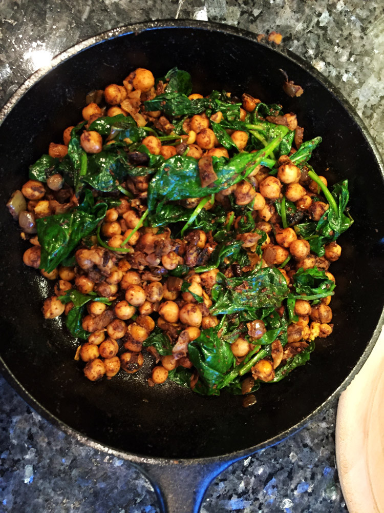 Middle Eastern Recipes Vegetarian  Middle Eastern Spiced Chickpeas