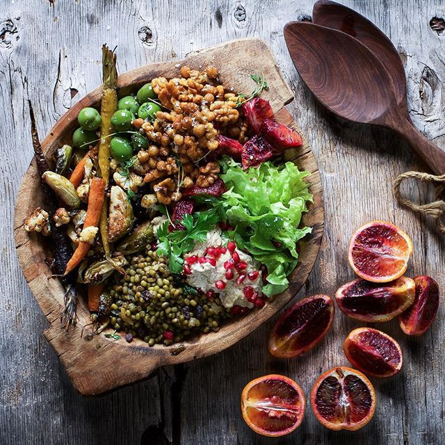 Middle Eastern Recipes Vegetarian  Middle Eastern Veggie Bowl recipe