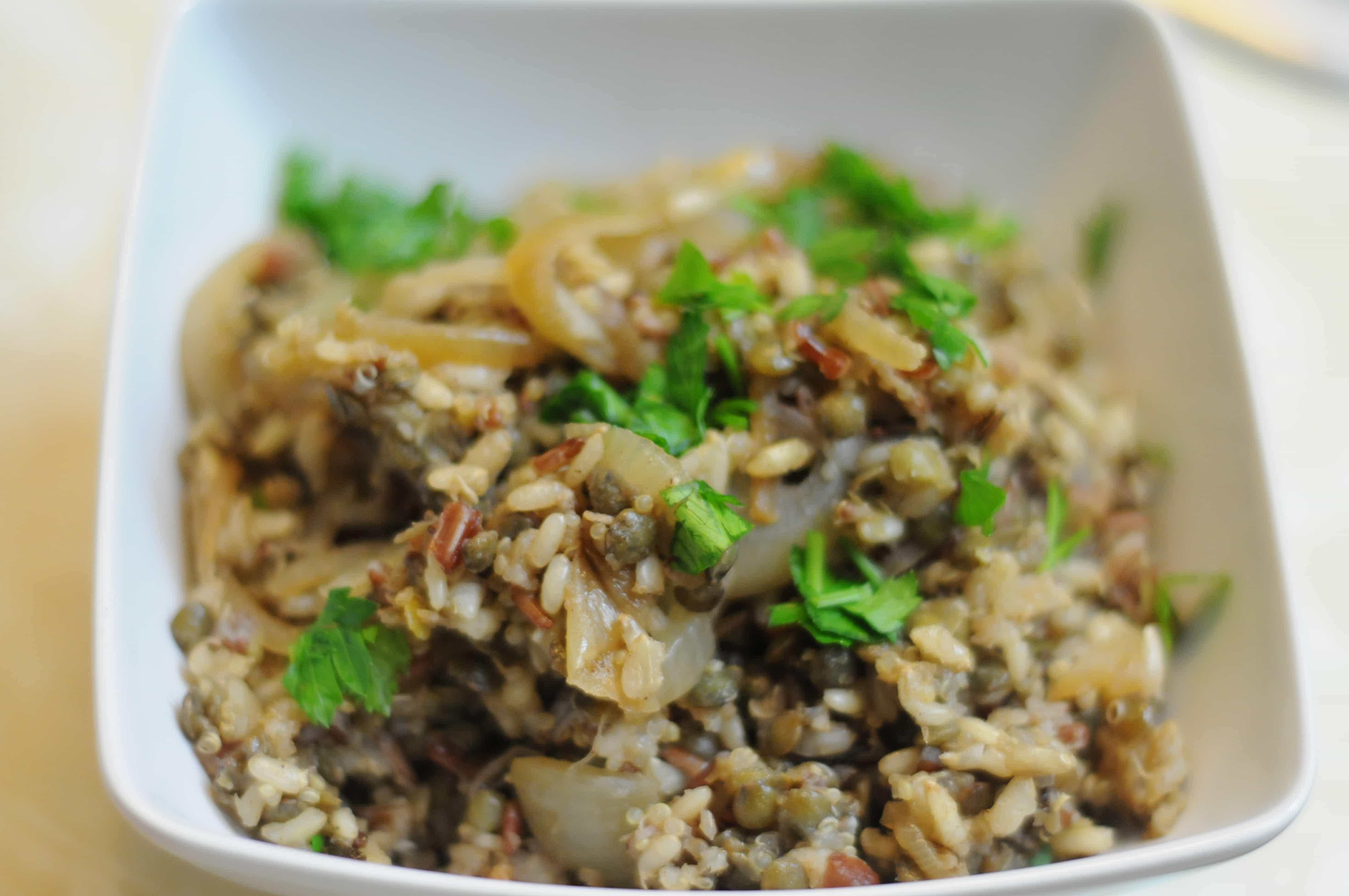 Middle Eastern Rice Pilaf Recipes  DSC 4633 Fried Dandelions