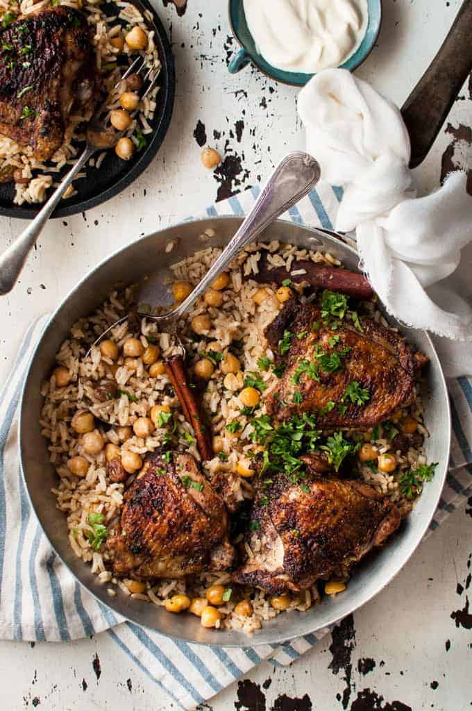 Middle Eastern Rice Pilaf Recipes  e Skillet Baked Chicken Shawarma and Rice Pilaf