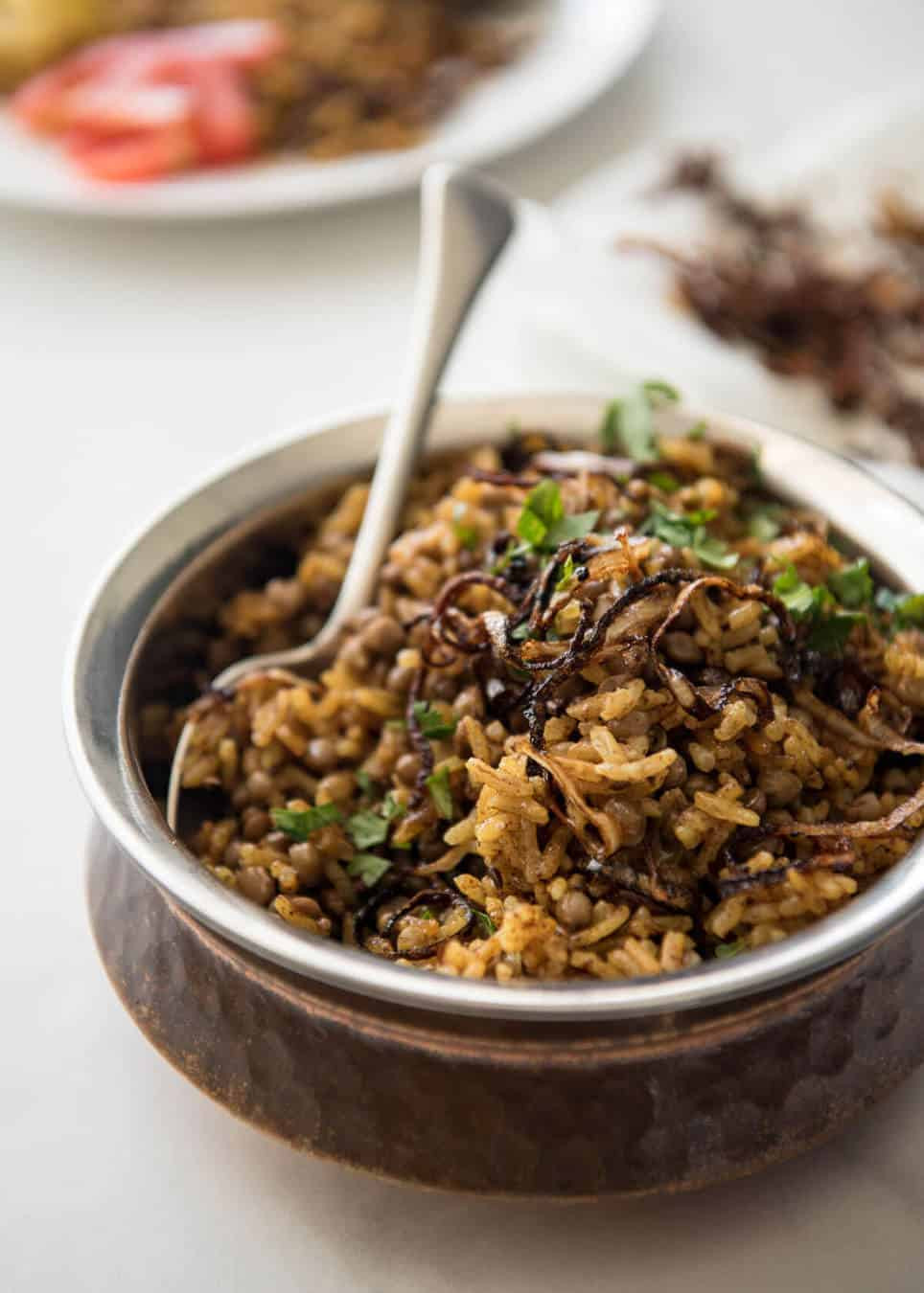 Middle Eastern Rice Recipes  Middle Eastern Spiced Lentil and Rice Mejadra