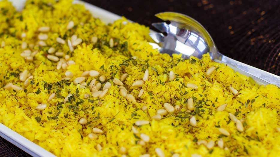 Middle Eastern Rice Recipes  Oil Free Middle Eastern Yellow Rice Cooking with Plants