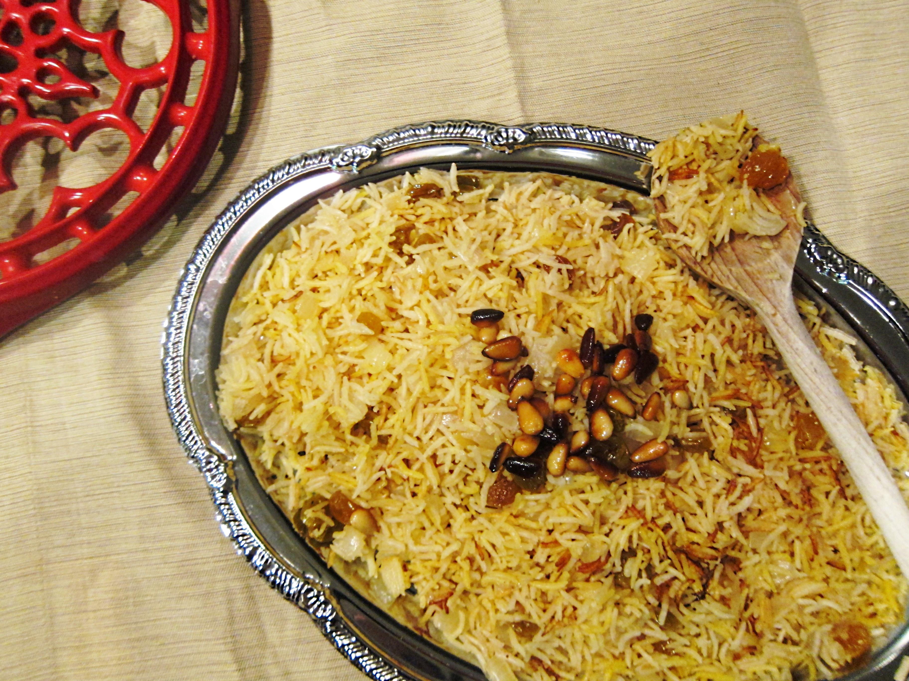 Middle Eastern Rice Recipes  An Edible Mosaic Saffron Rice