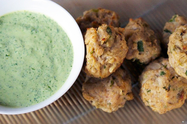 Middle Eastern Sauces  Middle Eastern Lamb Meatballs with Cilantro Mint Sauce