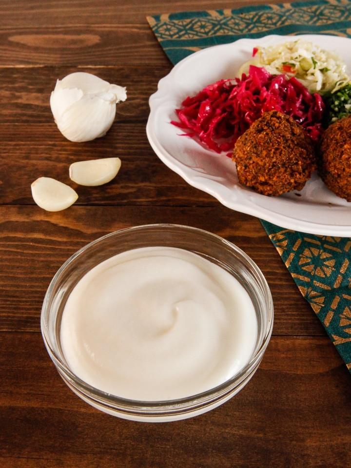Middle Eastern Sauces  Toum Garlic Sauce