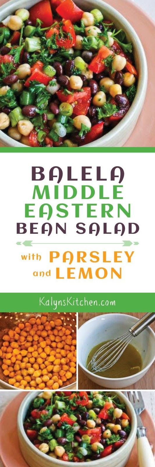 Middle Eastern Side Dishes  Balela Middle Eastern Bean Salad is delicious as a