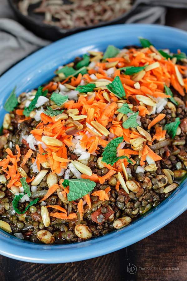 Middle Eastern Side Dishes  Lentil Salad Recipe with Harissa