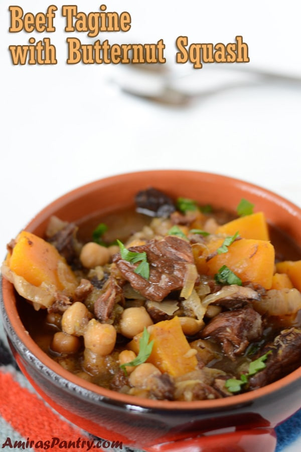 Middle Eastern Slow Cooker Recipes  Slow cooker Moroccan Butternut Squash tagine