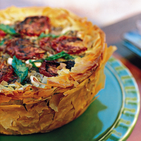 Middle Eastern Vegetarian Recipes  Middle Eastern Phyllo Rice Torte Recipe Toni Robertson