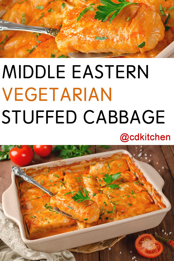 Middle Eastern Vegetarian Recipes  Middle Eastern Ve arian Stuffed Cabbage Recipe