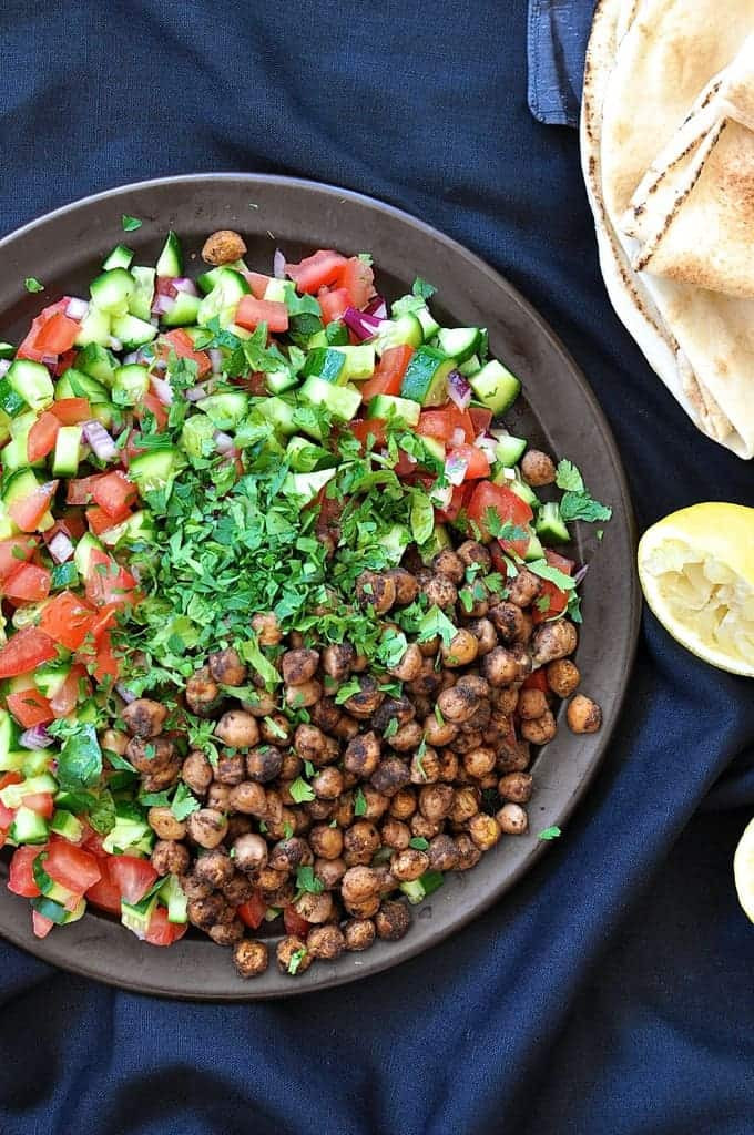 Middle Eastern Veggie Recipes  Middle Eastern Spiced Chickpea Salad