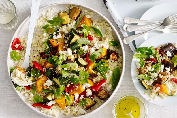 Middle Eastern Veggie Recipes  Cauliflower Rice With Middle Eastern Roast Ve ables