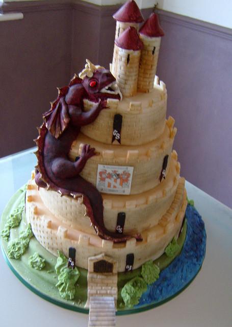Midevil Wedding Cakes  me val themed wedding cake