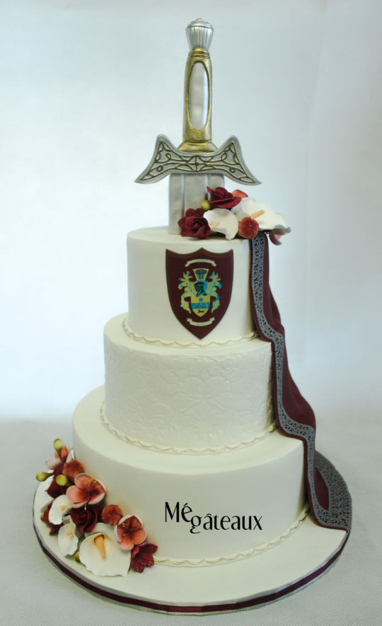 Midevil Wedding Cakes  me val wedding cake cake by Mé Gâteaux CakesDecor