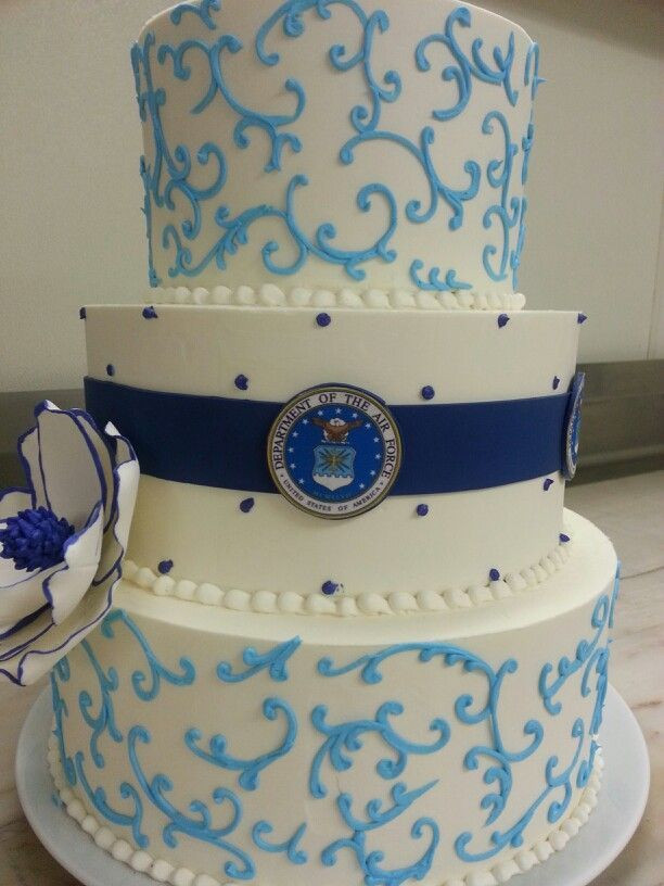 Military Wedding Cakes  Military Weddings milsotherapy Air Force Wedding Cake